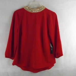 NWT Womens MOA MOA Blouse - Red - Sz SMALL